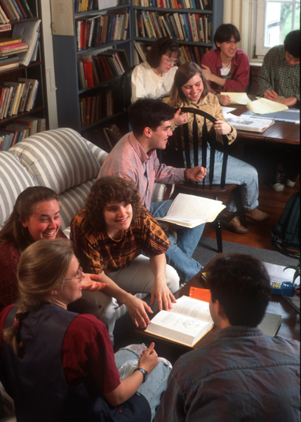 Students meet for a study group, 1994.Photo: Peter Howard