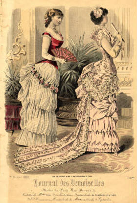 French fashion plate, 1883
